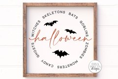 Halloween Word Art SVG | Halloween Sign SVG | DXF and More! Product Image 2