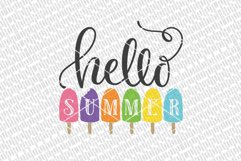 Hello Summer SVG | Popsicles SVG | DXF and More Product Image 2