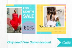 Fashion shop colorful instagram post canva template Product Image 3