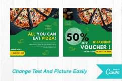 Pizza food instagram post canva template Product Image 4