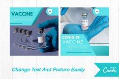 Virus vaccine instagram post canva template Product Image 3
