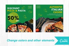 Pizza food instagram post canva template Product Image 2