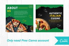 Pizza food instagram post canva template Product Image 3