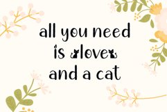 Chic Cat - Cute Display Font Product Image 4
