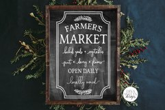 Farmers Market SVG | Vertical Farmhouse Design Product Image 2