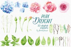 Floral Watercolor Illustrations | Flowers Digital Cliparts Product Image 3