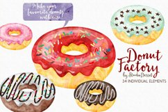 Donut Watercolor Illustrations Product Image 1