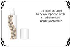 11 Vector Braided Hair Bundle - AI, EPS, JPG Product Image 6