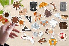 Coffee printable stickers bundle PNG, EPS, JPG. Product Image 1