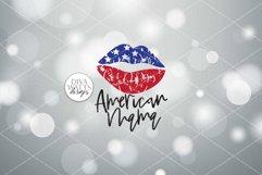 American Mama Grunge Lips SVG | Patriotic Design | 4th of Ju Product Image 2