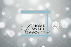 Home Sweet Home Plaid SVG | Ticking Stripes Frame Sign | DXF Product Image 2