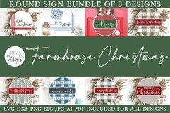 Farmhouse Round Christmas SVG Bundle - Sign Making Bundle Product Image 1