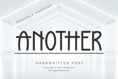 Another - Handwritten Font Product Image 1