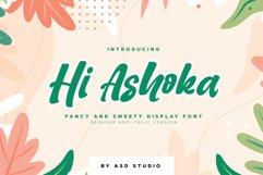 Hi Ashoka - Fancy and Sweety Display Font Product Image 1