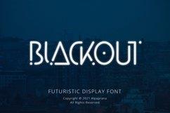 Blackout - Futuristic Display Font Product Image 1