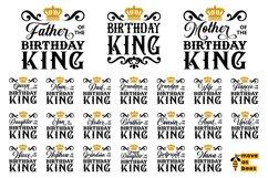 Birthday King Svg Bundle Birthday Man's Family Svg Png Shirt Product Image 1