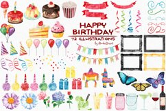 Birthday Watercolor Illustrations Product Image 3
