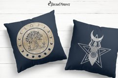 Halloween SVG Bundle | Wicca Witch SVG Bundle with Pentacles Product Image 4