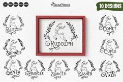 Reindeer Names SVG Bundle   Christmas Ornaments SVG Product Image 1