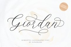 Giordan - Romantic Calligraphy Font Product Image 1