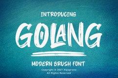 Golang - Modern Brush Font Product Image 1