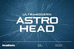 Astrohead geometric sans serif typeface Product Image 1