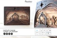 3D Nativity Scene Laser Cut Design   Christmas SVG Product Image 1