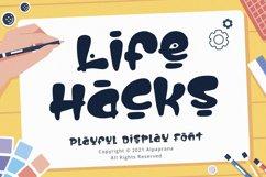 Life Hacks - Playful Display Font Product Image 1