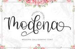 Modena - Modern Calligraphy Font Product Image 1