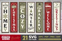 Mega Bundle | 21 Porch SVG Signs | Vintage Vertical Designs Product Image 4
