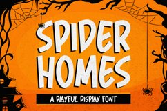 Spider Home - Playful Display Font Product Image 1