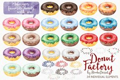 Donut Watercolor Illustrations Product Image 3