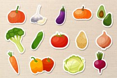 Funny cartoon Vegetables png, vegetables stickers. Product Image 2