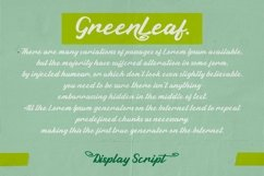 Green Leaf - Display Script Font Product Image 2