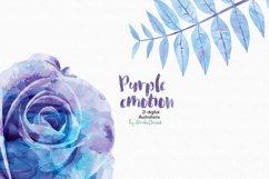 Purple Emotion - Flowers Watercolor Illustrations Product Image 3