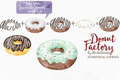 Donut Watercolor Illustrations Product Image 2