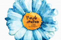 Purple Emotion - Flowers Watercolor Illustrations Product Image 2