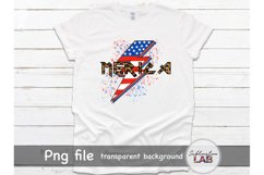 Merica Sublimation Design USA 4th of July Rock Leopard Product Image 2