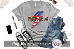 Merica Sublimation Design USA 4th of July Rock Leopard Product Image 4