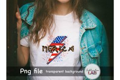 Merica Sublimation Design USA 4th of July Rock Leopard Product Image 3