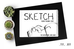 Fast sketch. Hand drawn font Product Image 1