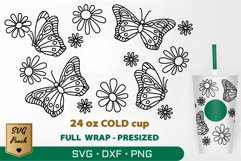 Butterflies cup wrap SVG Product Image 1