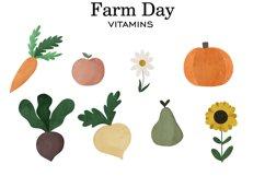 Farm clipart, Watercolor farm animals, Farm PNG, Farm print Product Image 3