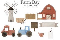 Farm clipart, Watercolor farm animals, Farm PNG, Farm print Product Image 4