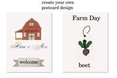 Farm clipart, Watercolor farm animals, Farm PNG, Farm print Product Image 5