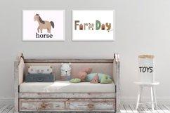 Farm clipart, Watercolor farm animals, Farm PNG, Farm print Product Image 6