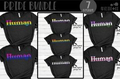 Pride bundle, I am human, we are human, they are human, SVG Product Image 1