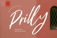 Web Font Prilly - The Beauty Signature Font Product Image 1