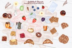 Breakfast Watercolor Clipart Product Image 2