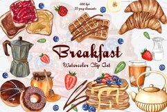 Breakfast Watercolor Clipart Product Image 1